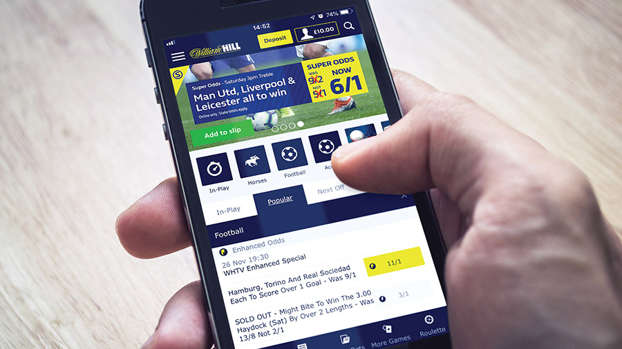 William hill pour l'application mobile