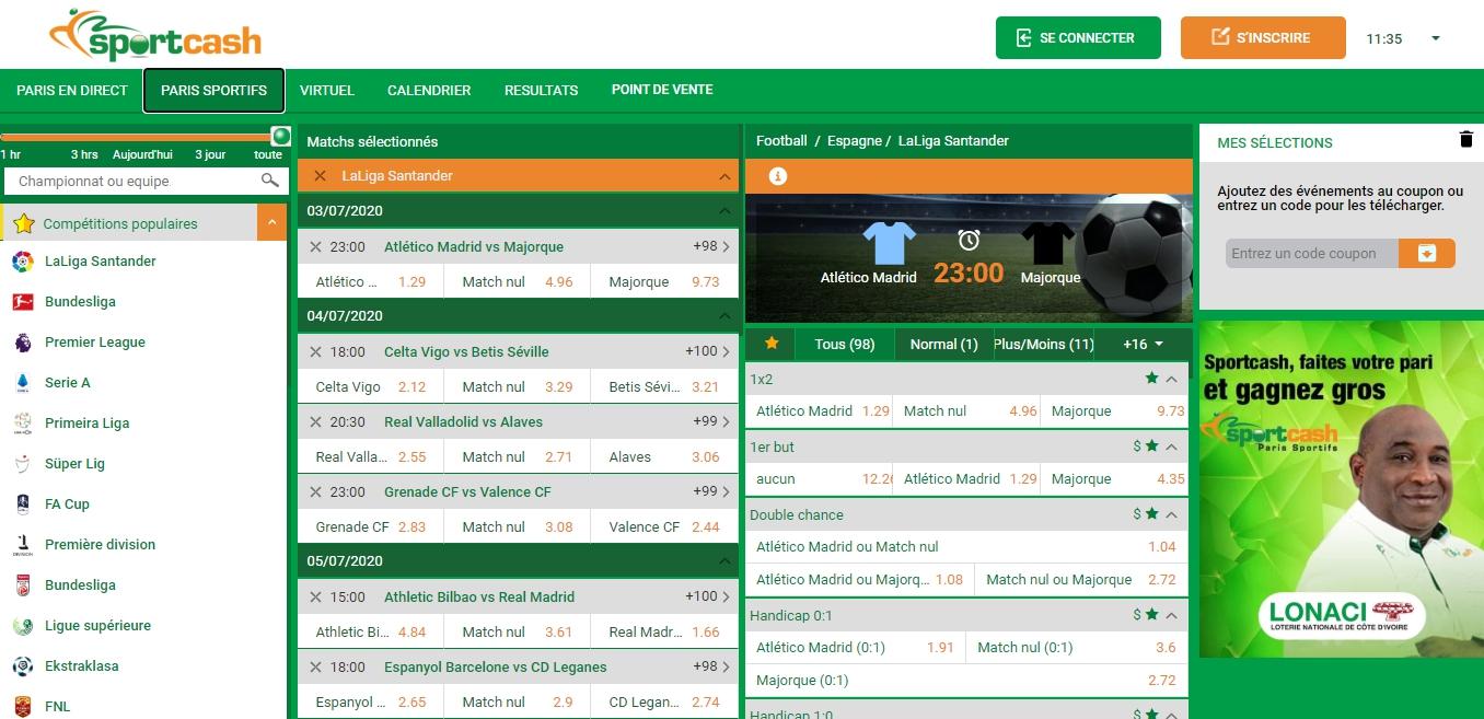 Sportcash website