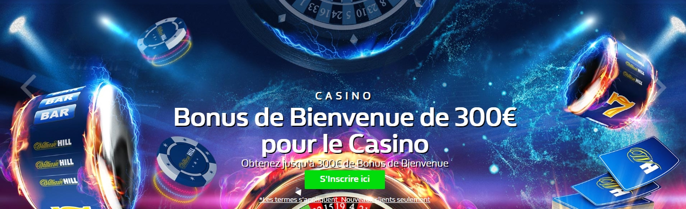 William Hill bonus pour le Casino